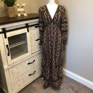 NWT Frye Carly Long Sleeve Maxi Dress Naomi XS